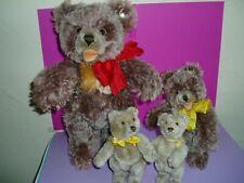 4 Steiff Teddys aus den 50er Jahren im Konvolut