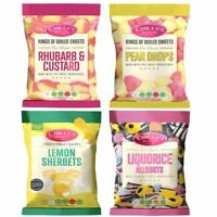 (4 Pack) Crillys Rhubarb & Custard/Lemon Sherbet/Liquorice/Pear Drops