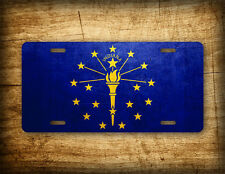 Indiana Flag License Plate IN State Official Flag Symbol Auto Tag 6x12 Aluminum