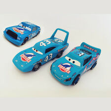MT Cars Blue Dinoco McQueen & Chick Hicks & the King Diecast Toy Car 1:55 Loose