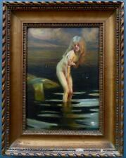 Paul Emile Chabas - Fine ORIGINAL Antique FRENCH Oil PAINTING Nude Girl Bathing
