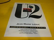 U2 - JEAN- MARIE LEDUC!!!!!!!!!!!!!!!PUBLICITE / ADVERT