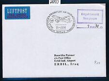 78863) LH FF Frankfurt - Erbil Irak 25.4.2010, Brief Taxe percue