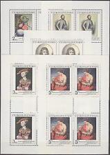 CZECHOSLOVAKIA - 1977 PRINTING SHEETS ART Mi. 2413-2417 Sc. 2147-2151 - **MNH**