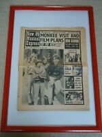 NEW MUSICAL EXPRESS 1967 THE MONKEES VISIT FRONT PAGE 53YEARS VINTAGE NEWSPAPER