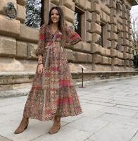 Zara AW2020 Paisley Print Dress Size L Bloggers Fave BNWT