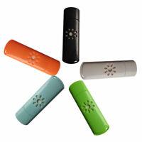 KQ_ New Mini USB Aromatherapy Essential Oil Diffuser Car LED Light Air Fresher
