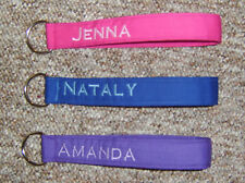 Personalized Wrist Key Chain/Fob in several colors