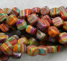 8 mm Perles , multicolore, de la dinde des gemmes turquoises, en vrac 38cm