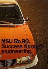 NSU Ro80 1971-72 UK Market Sales Brochure