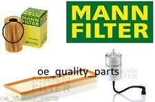 OEM MANN OIL AIR FUEL FILTER FILTERS SERVICE KIT PORSCHE 911 996 BEST OE QUALITY