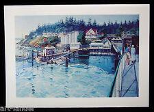 8 Orcas Island Ferry Washington State Fine Note Cards~ Marshall Johnson no env.