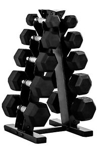 CAP Barbell 150-Pound Dumbbell Set with Rack (Charcoal)