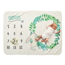 Decdeal Baby Milestone Blanket Newborn Photo Prop Backdrop with Monthly Growt...