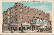 The Huntington Hotel and Fire Proof Annex in Huntington WV Postcard