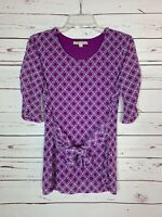 41 Hawthorn Stitch Fix Women's S Small Purple Half Cute Sleeve Top Shirt Blouse