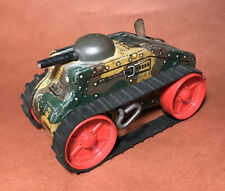 Vintage MarX Toys Camouflage Tank Wind Up Litho Tin Toy 1950s