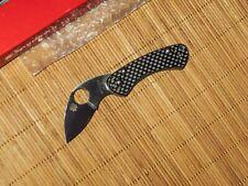 Spyderco C141CFP Balance Pin Ed Schempp Carbon Fiber knife - RARE - NEW IN BOX