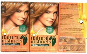 3 Boxes Clairol Natural Instincts 9 Light Blonde Semi Permanent Hair Color