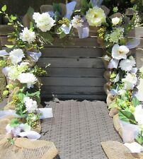 10 00004000 9; Wedding Flower Garland White Floral Door Decor Hydrangea Peony Rose Swag