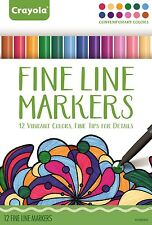 Crayola Adult Colouring Markers - Fine Line Markers - Contemporary Colours
