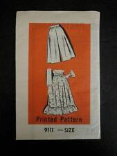 Vtg 80's Mail Order Sewing Pattern Womens 9111 Skirt or Culottes Size 33 Uncut