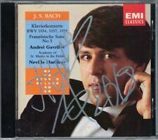 Andris GAVRILOV Signiert BACH Piano Concerto 1054 57 58 French Suite MARRINER CD