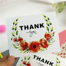 50pcs/lot Colored Flowers Card Thank you Small Gift  Message Cards Invitations