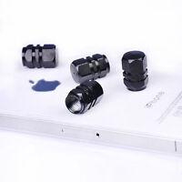 4PCS Hot Tire Wheel Rims Stem Air Valve Caps Tyre Cover Car Truck Bike Black