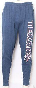 NEW Houston Texans NFL Team Apparel Sleepwear Blue Lounge Pants Men's L
