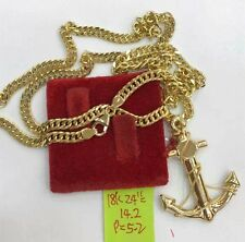 GoldNMore: 18K Gold Necklace and Pendant 24 inches 19.4G