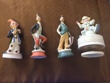 Lot Of 4 Porcelain Clown Small Collec 00006000 tible Antique Looking