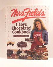 Mrs. Fields I Love Chocolate Cookbook by Debbi Fields - Hardcover Recipe Book
