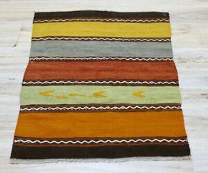 "Cappadocia Ethnic Handwoven Kilim Rug Anatolian Vintage Tribal Carpet 27""x37"""