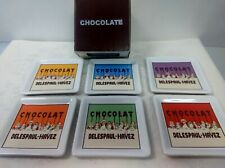 Pottery Barn Set of 6 Coasters Chocolate Design in Original Box