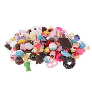 100pcs Kawaii Sweets Resin Cabochons Flatback Embellishment for Craft Making