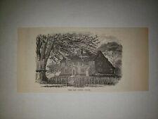 The Curtis House Ashfield Massachusetts 1879 Sm Sketch Print Rare!