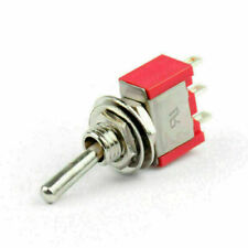 2x Mini 6mm Mts 103 Toggle Switch 3 Pin 3 Position Spdt On Off On 5a125vac Yu