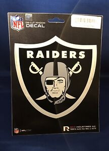 """RICO NFL Oakland Raiders Color Die-Cut Window Decal Sticker 5 x 6"""" NEW"""