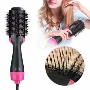 One-Step Hair Blow Dryer & Volumizer Straightener & Curler Hot Air Brush Comb