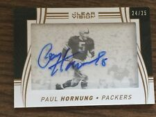 2016 Clear Vision Signatures Paul Hornung Auto #d 25 Packers
