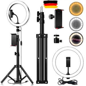 USB LED Ringlicht Ringleuchte Fotolicht Studiolicht Lampe Selfie Handy Stativ DE