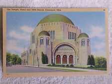 Cleveland OH/The Jewish Temple-Ansel & 105th Streets/Linen Postcard/Unposted