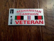 U.S MILITARY AFGHANISTAN CAMPAIGN  VETERAN WINDOW DECAL BUMPER STICKER