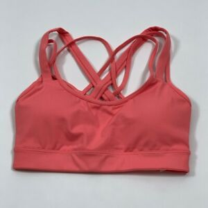 Victoria's Secret Womens Sports Bra Pink Strappy Criss Cross Back Mesh XS New
