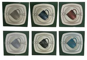 Noritake Dishes Colorwave 4-Piece Square Place Setting Dish Plate Set