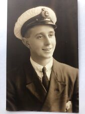 Naval Navy Young Sailor Moffatt. Real Photo Portrait Postcard.