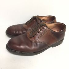 Florsheim Ease Mens Brown Leather Saddle Style Oxfords Size 9 Wide