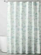 "Pillowfort Planes And Trucks White Blue Fabric Shower Curtain 72"" x 72"""