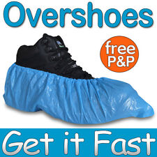 200 Disposable Plastic Blue Anti Slip Shoe Covers Cleaning Overshoes Protective